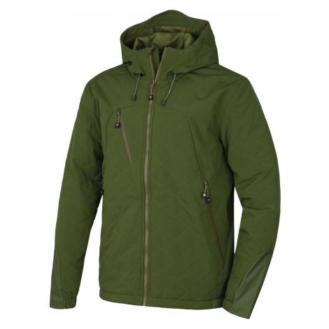 Husky Salex 18 tm. olivová, Pánska softshell bunda
