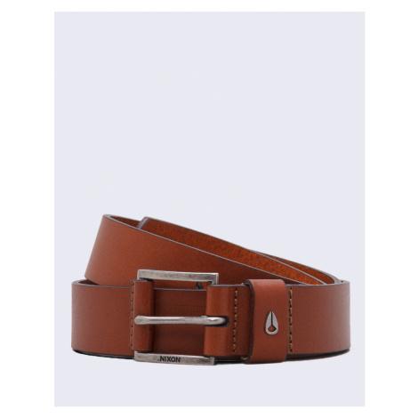 Nixon Americana Leather Belt SADDLE