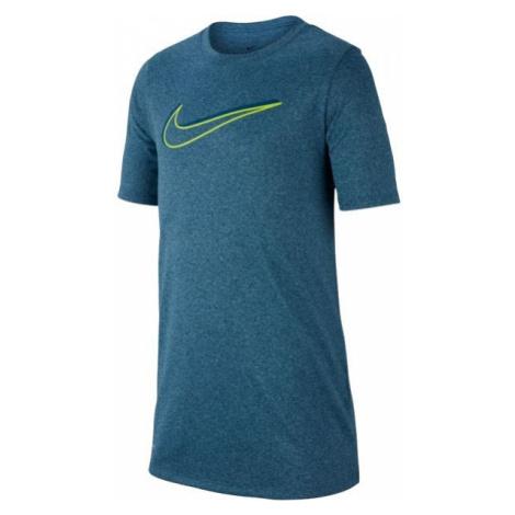 Nike NK DRY LEG TEE 3D SWOOSH modrá - Chlapčenské športové tričko