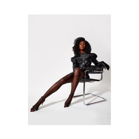 Rage Age Kožené šaty Guinevere 1 Čierna Regular Fit