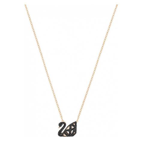 Swarovski Luxusné náhrdelník s čiernou labuťou SWAN