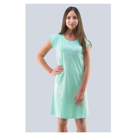 Dievčenská nočná košeľa Hearts pepermintová Gina