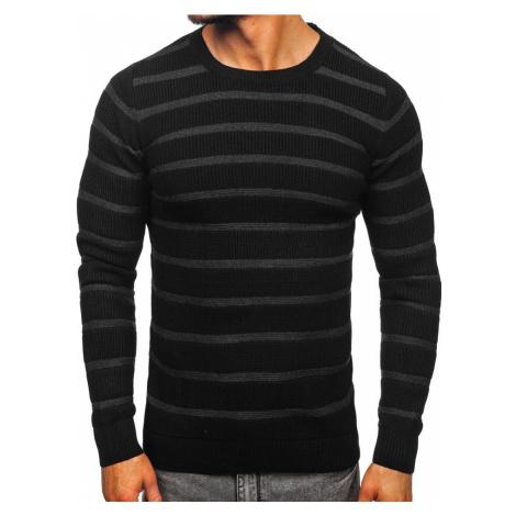 Čierny pánsky sveter Bolf 4356 MADMEXT