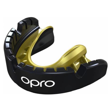 Chránič zubov OPRO Gold senior pre rovnátka senior - čierny