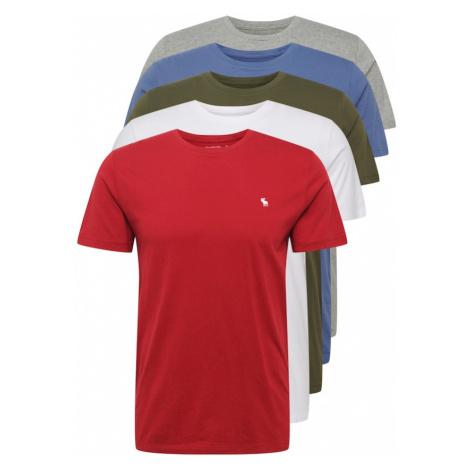 Abercrombie & Fitch Tričko  červená / biela / kaki / kráľovská modrá / sivá melírovaná