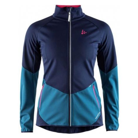 Craft GLIDE W modrá - Dámska softshellová bunda