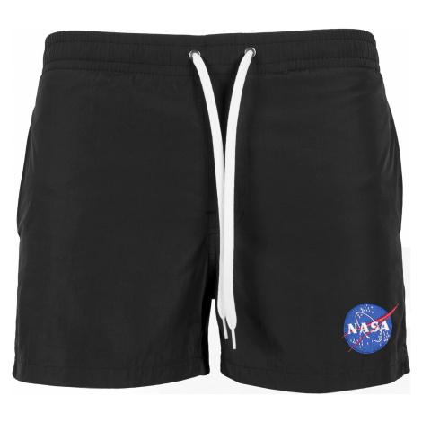 MR.TEE Pánske kúpacie kraťasy NASA EMB Logo Swimshorts Farba: black