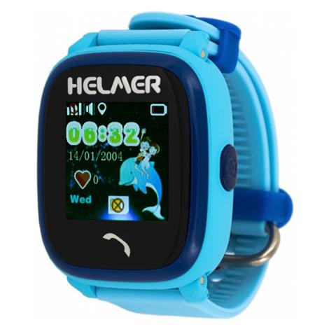Helmer Smart dotykové vodotesné hodinky s GPS lokátorom LK modré