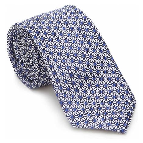 Modro-biela kravata so vozorom kvetov Wittchen