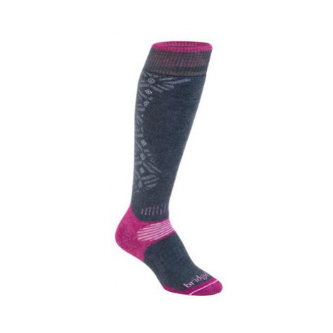 Ponožky Bridgedale All Mountain Women's 873 gunmetal / berry