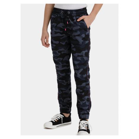 Tmavomodré dievčenské maskáčové nohavice SAM 73