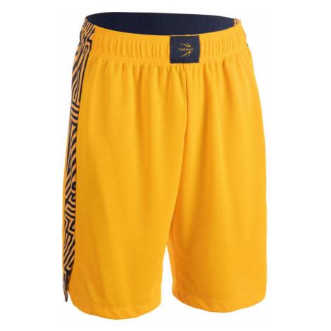 TARMAK Pánske basketbalové šortky SH500 žlté ŽLTÁ S