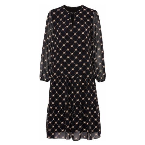 COMMA Šaty  čierna / hnedá / biela