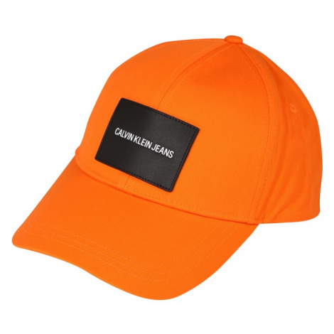 Calvin Klein Jeans Čiapka  neónovo oranžová / čierna / biela