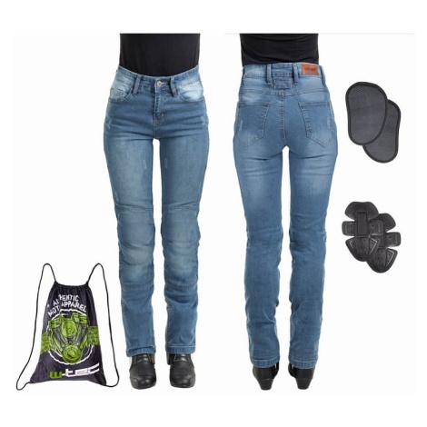 Dámske moto jeansy W-TEC Panimali Farba modrá