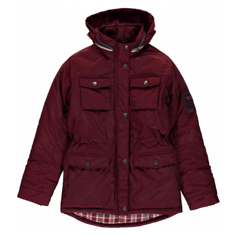 SoulCal Padded Parka Jacket Junior Girls Burgundy Soulcal & Co