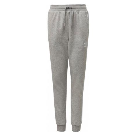 ADIDAS ORIGINALS Nohavice  biela / sivá melírovaná