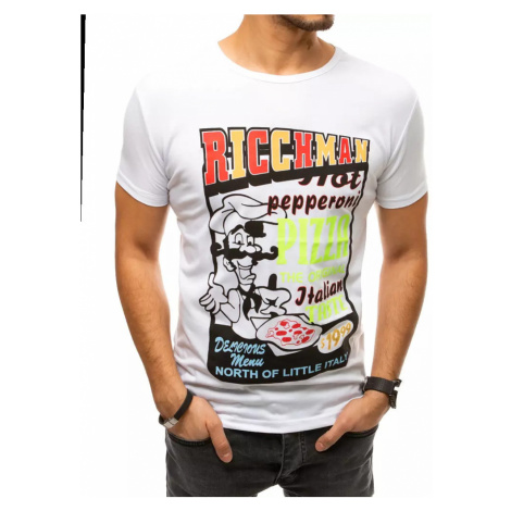 White RX4372 men´s T-shirt with print DStreet