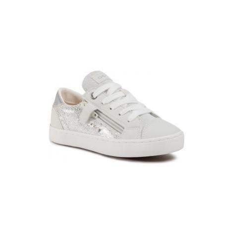Geox Sneakersy J Kilwi G. B J02D5B 007BC C0007 S Biela