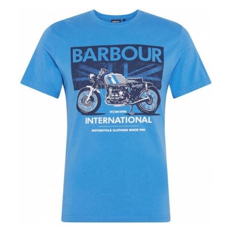 Barbour International Tričko 'Greenwood'  nebesky modrá / biela / námornícka modrá