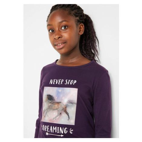 Dievčenské tričko s dlhým rukávom, bio bavlna