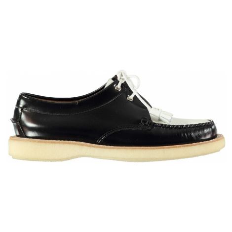 Bass Weejuns Tie Shoes Black/White