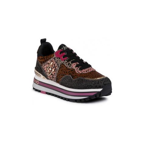 Liu Jo Sneakersy Wonder Maxi 01 BF0069 PX072 Hnedá