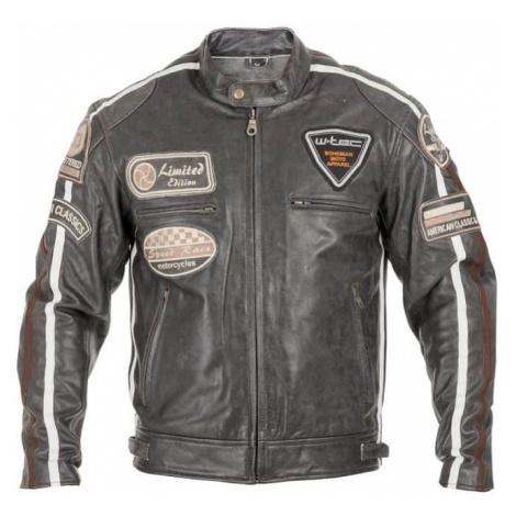 Pánska kožená moto bunda W-TEC Antique Cracker Farba hnedo-šedá