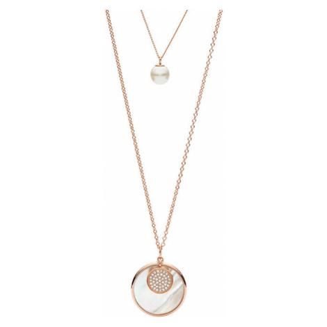 Fossil Luxusné dvojitý náhrdelník JF02961791