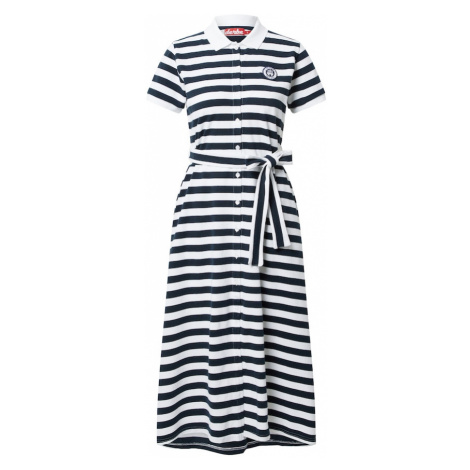 Derbe Košeľové šaty  námornícka modrá / biela