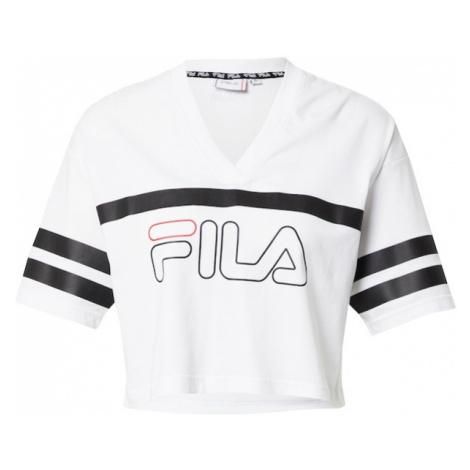 FILA Funkčné tričko 'JAINA'  biela / čierna / svetločervená