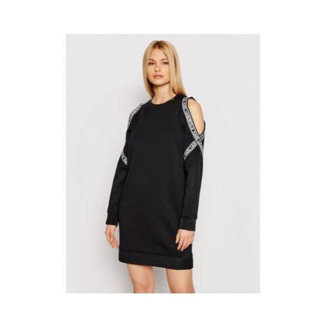 KARL LAGERFELD Úpletové šaty Cold Shoulder 211W1362 Čierna Regular Fit