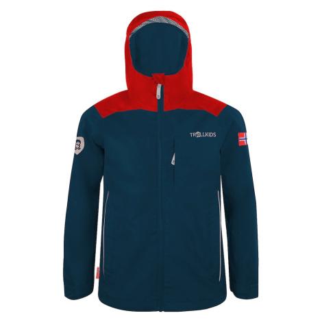 TROLLKIDS Outdoorová bunda  námornícka modrá / svetločervená