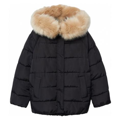 MANGO Zimná bunda 'BOTANIC'  čierna