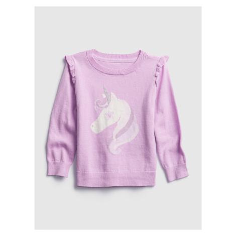 Fialový dievčenský sveter GAP