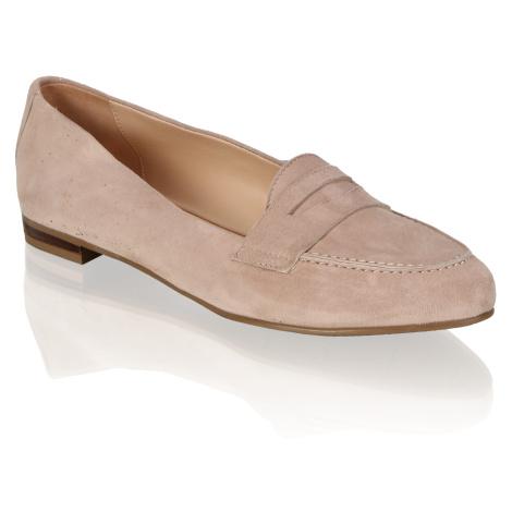 Lazzarini velúr Klasická nazúvacia obuv béžová