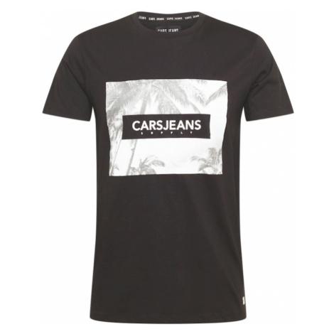 Cars Jeans Tričko 'SIMMONS'  čierna / biela / tmavošedá