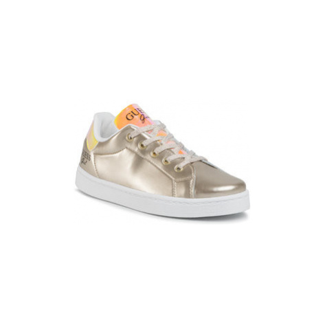 Guess Sneakersy Lucy FJ7LUC ELE12 Zlatá