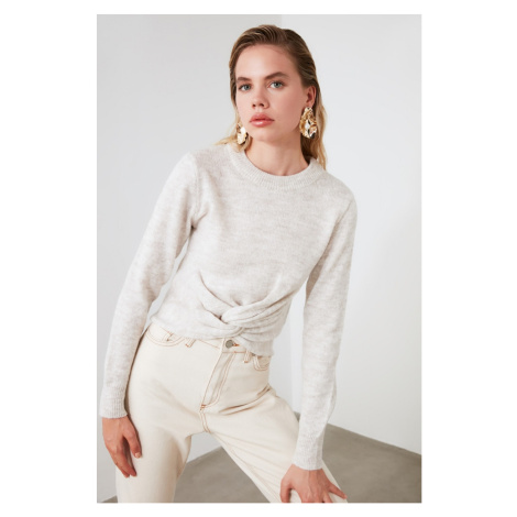 Trendyol Beige Buzgü Detailed Knitwear Sweater