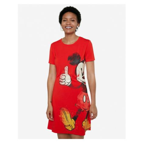 Desigual Mickey Šaty Červená