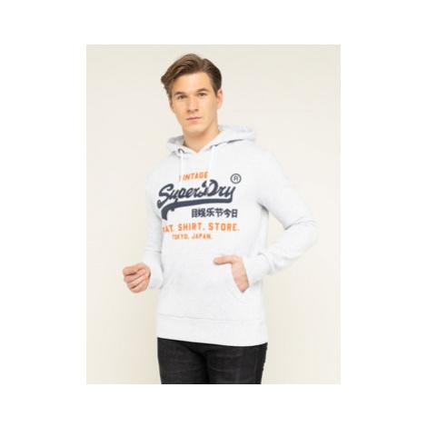 Superdry Mikina Sweat Shirt Shop Duo Hood M20004NS Sivá Regular Fit
