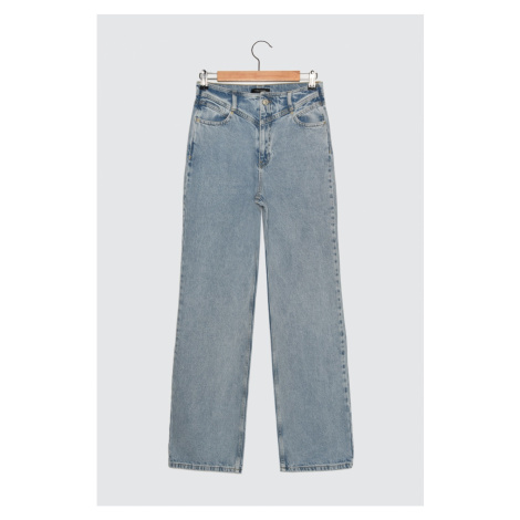 Trendyol High Waist Narrow Wide Leg Jeans