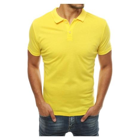 Men's yellow polo shirt PX0314 DStreet