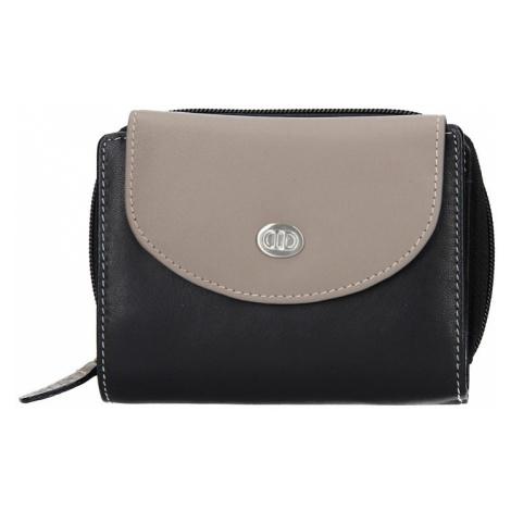 Dámska kožená peňaženka DD Anekta Karina - šedo-čierna