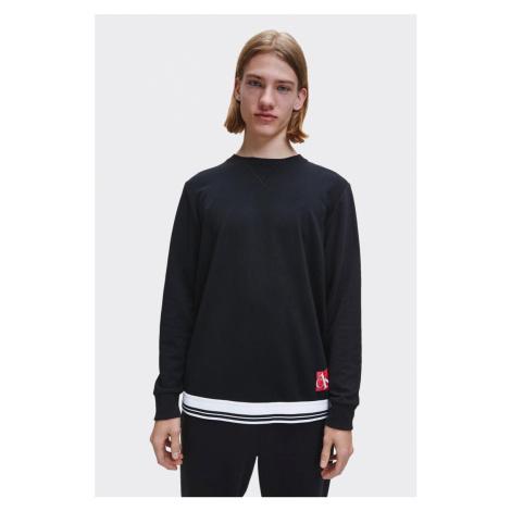 Calvin Klein mikina pánska - čierna Veľkosť: XL
