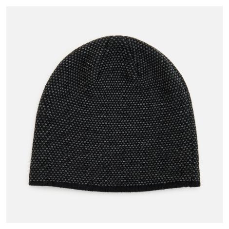 Reserved - Štruktúrovaná úpletová čiapka beanie - Čierna