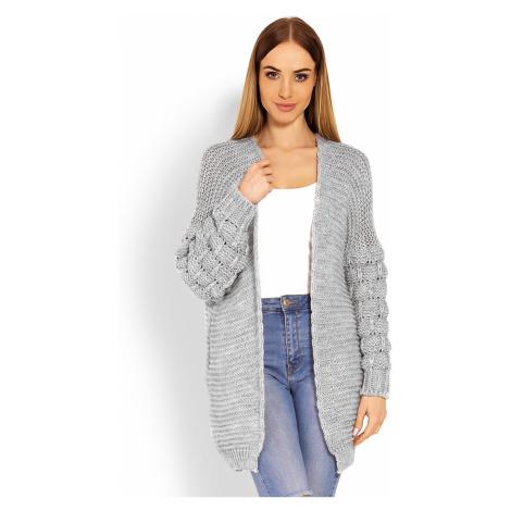 Sivý sveter 60003 PeeKaBoo