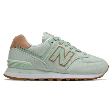 New Balance WL574SCD zelená - Dámska obuv na voľný čas