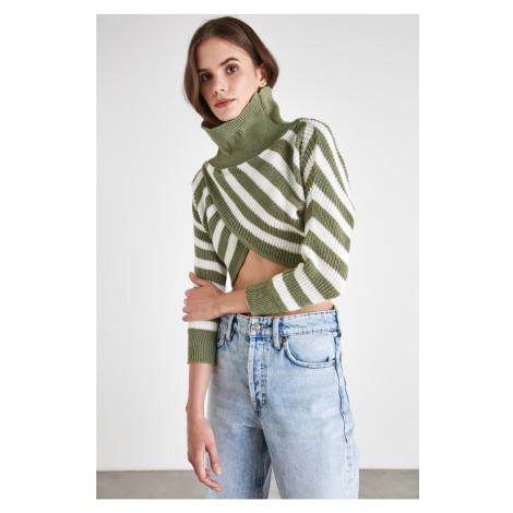 Trendyol Mint Carmen Collar Knitwear Sweater