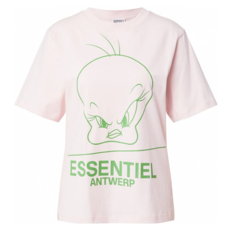 Essentiel Antwerp Tričko 'Zinker'  béžová / svetlozelená